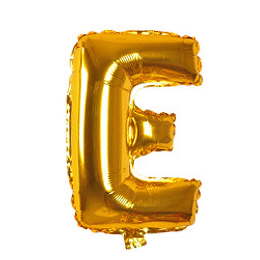 "Unique Bargains 40"" Birthday Wedding Decor Letter E Shaped Helium Foil Balloon"