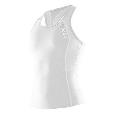 2XU Women's Comp Tri Singlet, White, Large ()