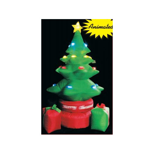 LB International Inflatable Rotating Tree with Gift Boxes Christmas Decoration