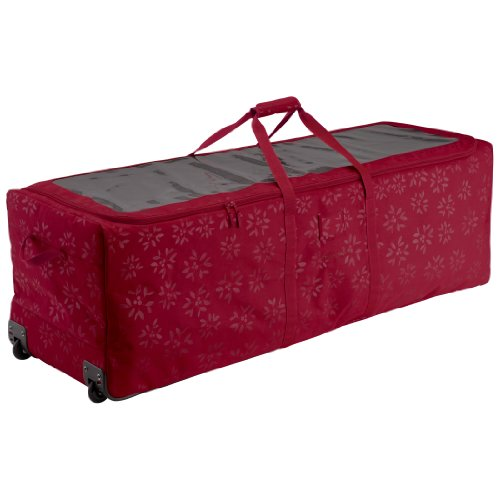 Classic Accessories Seasons Carrying Case [rolling Duffel] For Artificial Tree - Cranberry - Fabric - Debossed Pattern (57-004-014301-00)