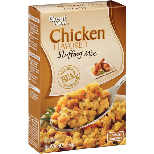 Great Value Chicken Flavored Stuffing Mix, 6 oz