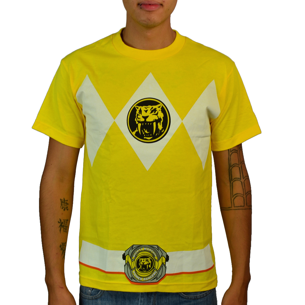 Power Rangers Yellow Ranger Suit Yellow Licensed T-shirt NEW Sizes S-3XL