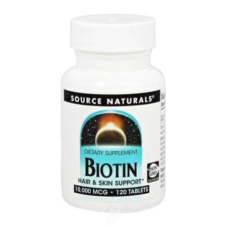 Source Naturals Biotin 10000Mcg 120T, Pack of 2