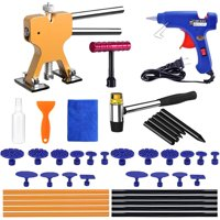 Paintless Dent Removal Repair Remover Tool Kit 42pcs Dent Puller Set Dent Lifter Hot Glue Gun for Car Hail Damage Door Ding Fix