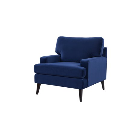 Enzo Recessed Arm Lawson Accent Chair, Navy Blue