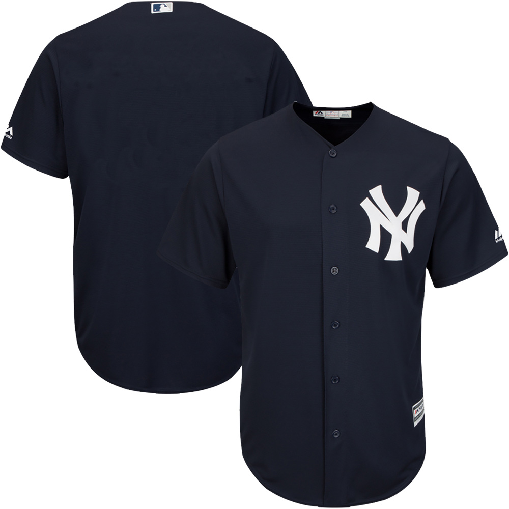 New York Yankees Majestic Youth Official Cool Base Jersey - Navy