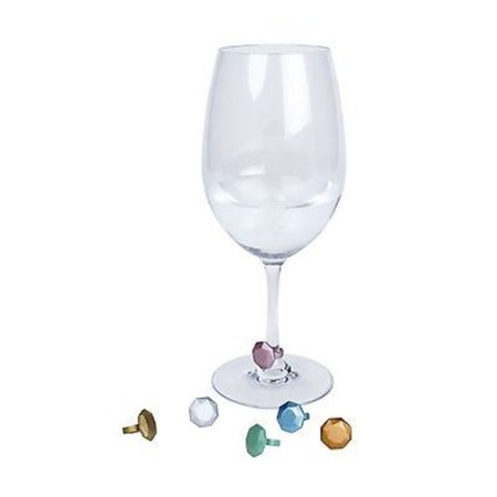 Gemstone Wine (Core Kitchen Gemstone Wine Glass Charms / Drink Markers - Set of 6)