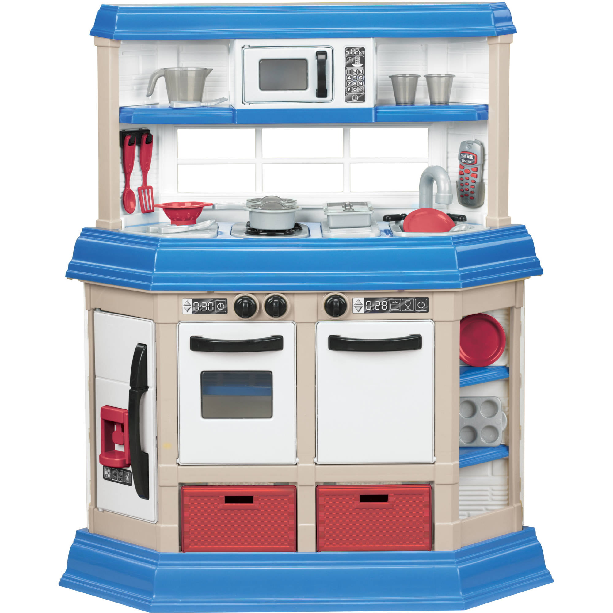 kids pretend play kitchen playset plastic cooking food toy boy