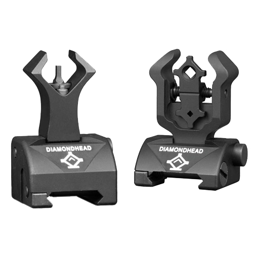 Diamond Rear and Gas Block AR15 Front