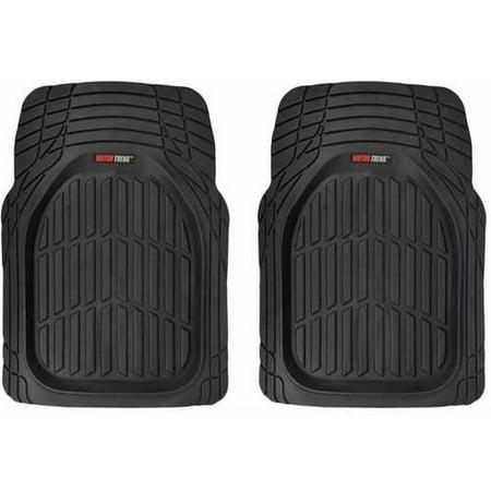 Motor trend front car floor mats 2 piece flextough rubber for Motor trend floor mats review