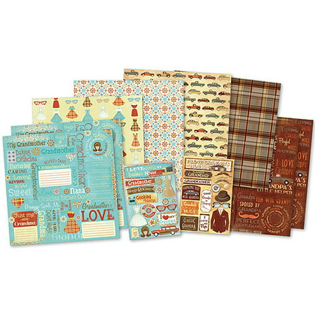 Karen Foster Classic Grandparents Scrapbook - Scrapbook Pages