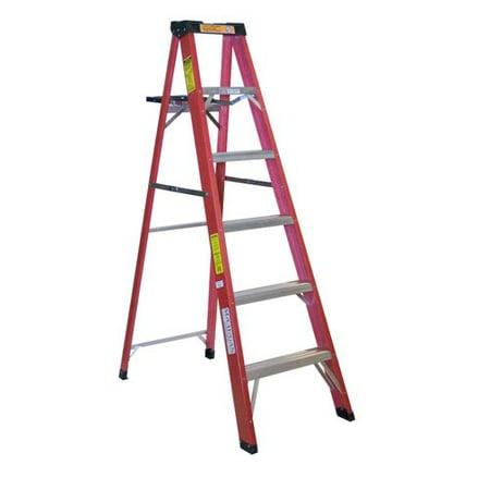 - Michigan Ladder 5.2 ft Fiberglass Step Ladder with 225 lb. Load Capacity