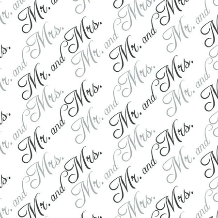 - Mr. and Mrs. Wedding Black and White Premium Gift Wrap Wrapping Paper Roll