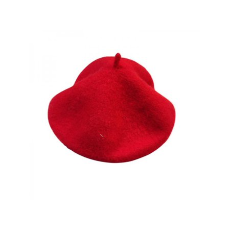 Nicesee - Nicesee Baby Girls Winter Woolen Beret Soft Hat Solid ... b71bd7563a7c