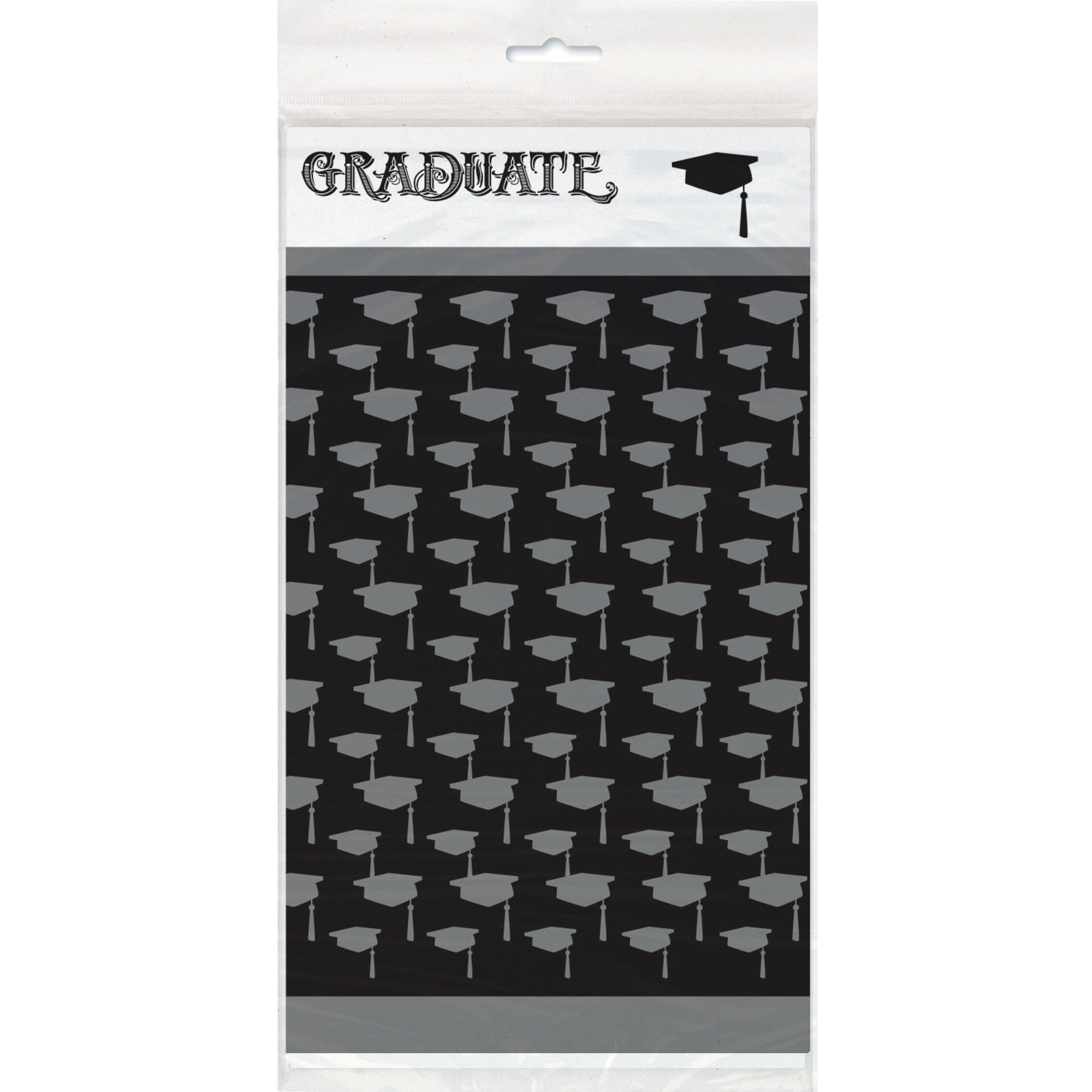 Classic Graduation Plastic Tablecloth, 84 x 54 in, 1ct