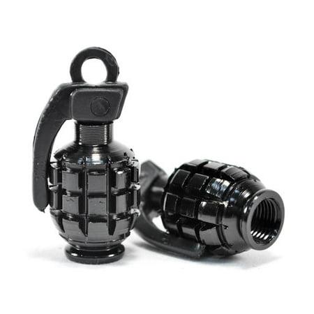 Motorcycle Silver Tire Wheel Grenade Valve Caps For Suzuki Bandit B-King Gladius Katana GS - image 3 de 3
