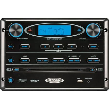 Jensen Awm965 Am Fm Cd Dvd Mp3 Usb Wallmount Stereo