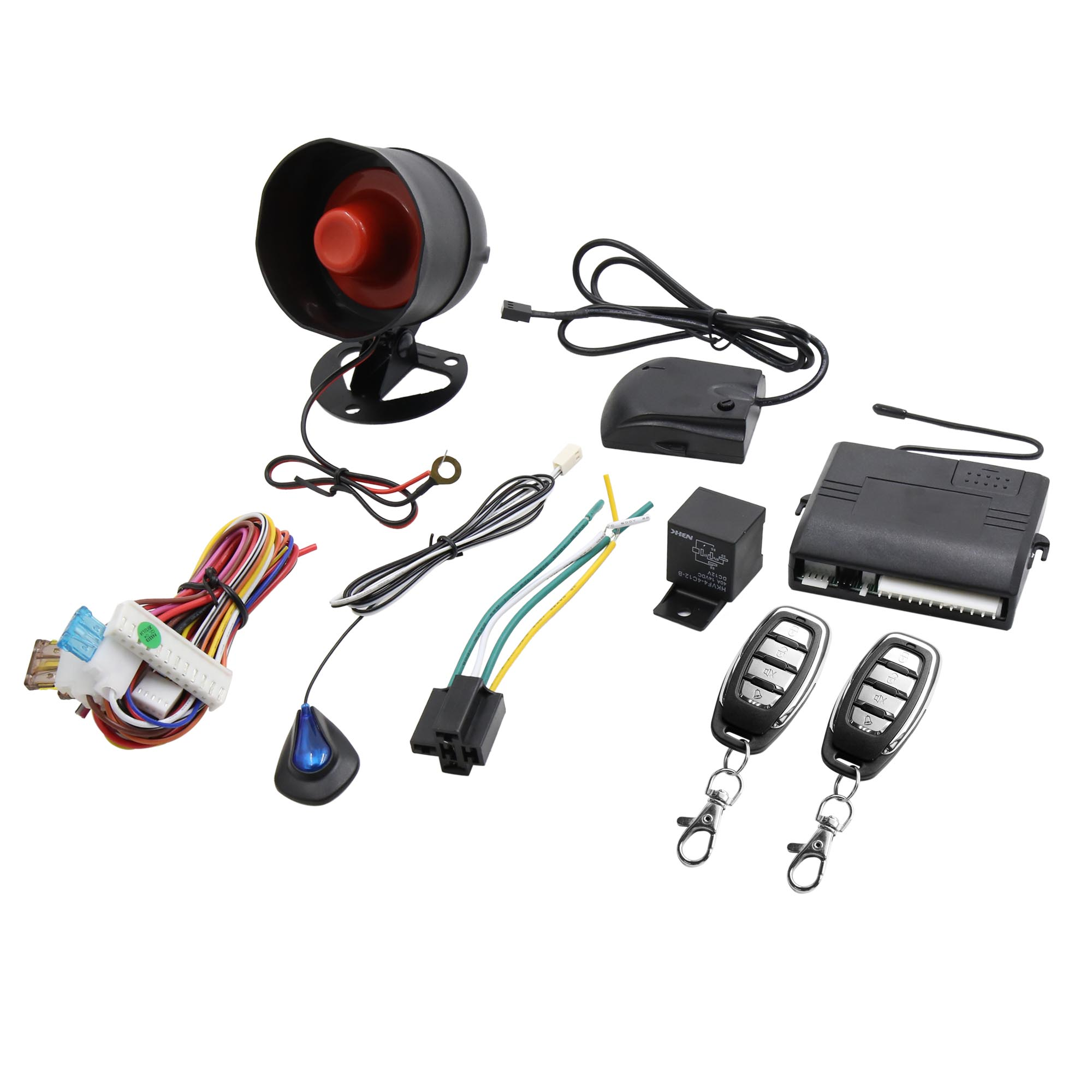 Keyless Entry Security Alarm System 1 Way Anti-theft Siren w//2 Remote  for Car