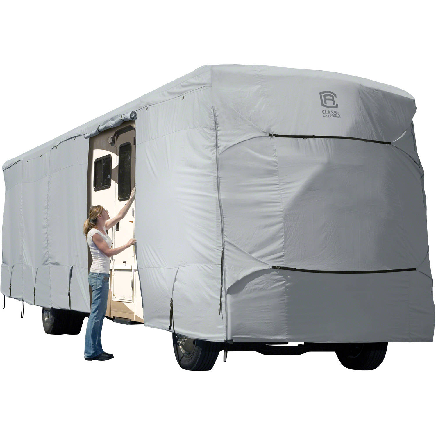 Classic Accessories OverDrive PermaPRO Deluxe Class A RV Cover, Fits 20' - 42' RVs - Lightweight Ripstop and Water Repellent RV Cover