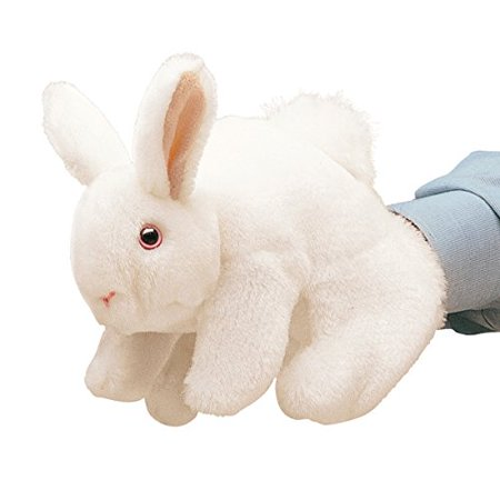 Happy Bunny Rabbit (Folkmanis White Bunny Rabbit Hand Puppet)