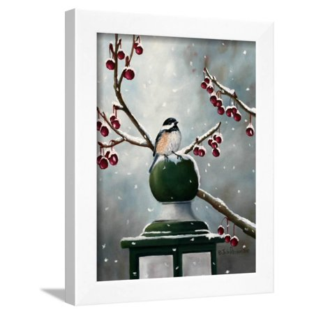 - Chickadee in the Snow Framed Print Wall Art By Julie Peterson