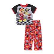 Disney Toddler Boys' Pajamas Mickey Mouse Lounge Pants and Top Set, Black, Size: 4T
