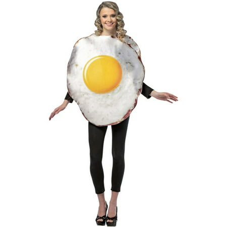Fried Egg Adult Halloween Costume - One - Egg Halloween Costume
