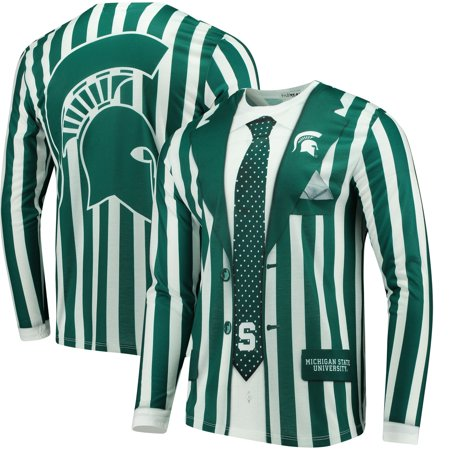 Michigan State Spartans Faux Real Suit Long Sleeve T-Shirt - Green