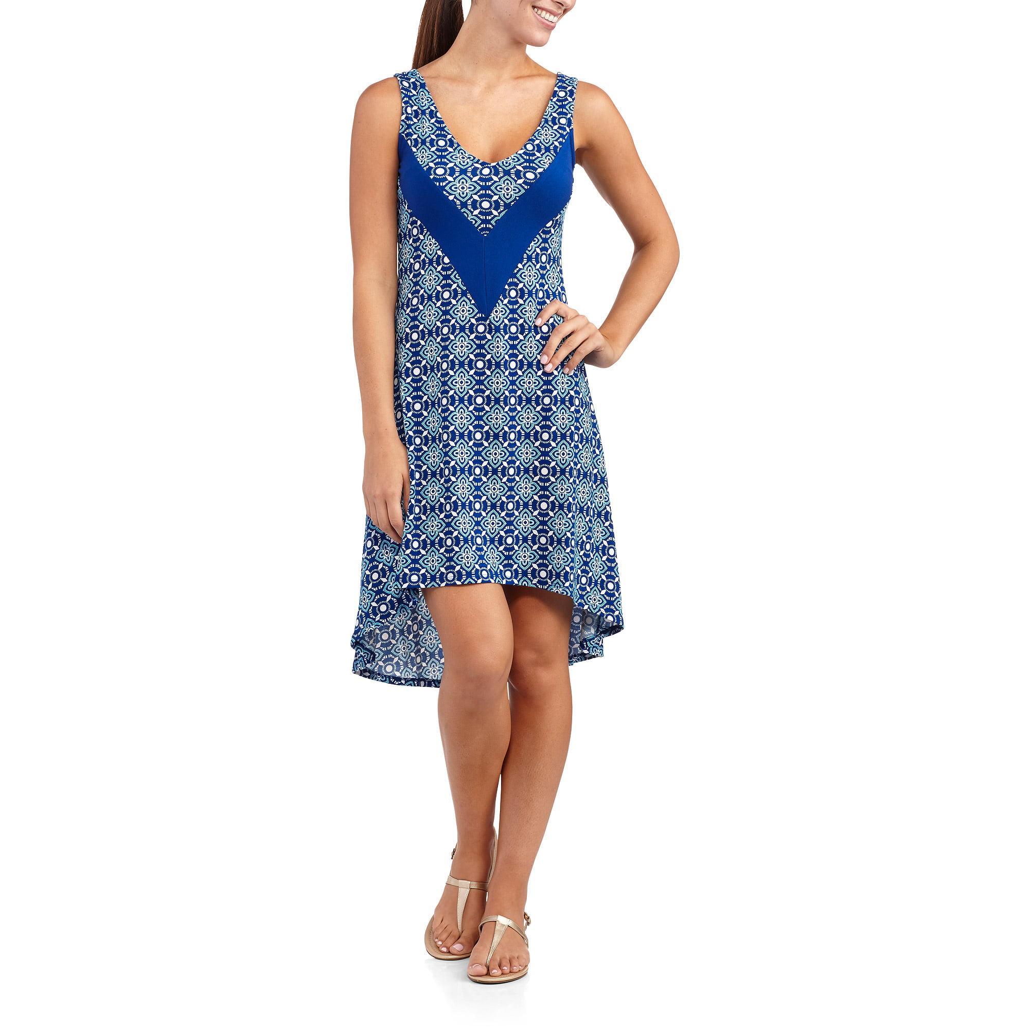 Allison Brittney Women's V-Neck Hi-Lo Tank Dress