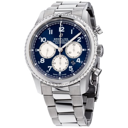 Breitling Navitimer 8 Blue Dial Stainless Steel Men's Watch AB0117131C1A1
