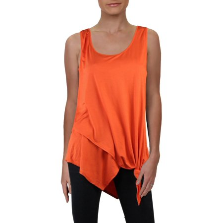 Karen Kane Womens Layered Tie Front Tank Top