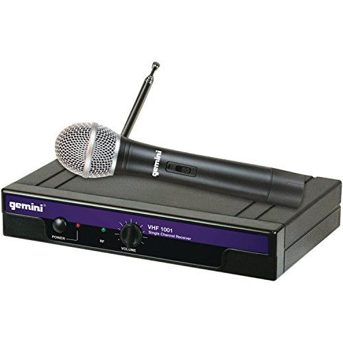 Gemini DJ VHF1001MC2 Handheld Wireless Microphone by GCI Technologies Corp.