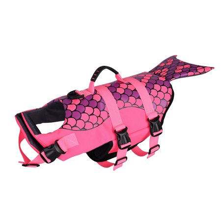 Pet Dog Life Jacket Mermaid Large Pet Float Coat Dog Lifesaver Swim Safety