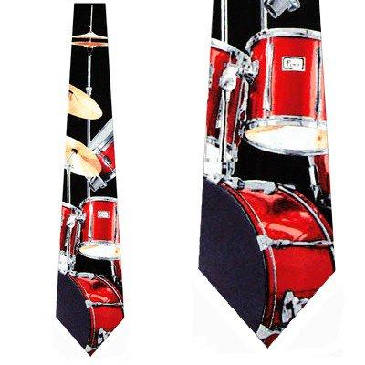Drum Set (Black) Necktie Mens -