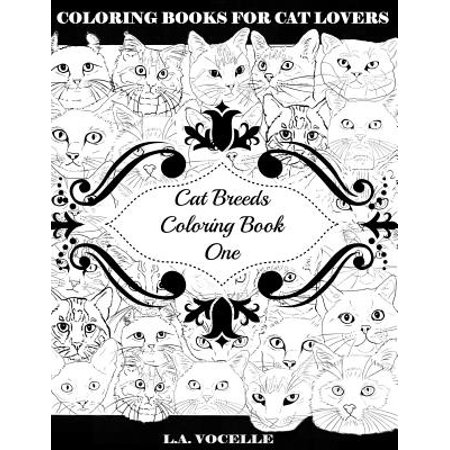 Cat Breeds Coloring Book One - Halloween Coloring Page Cat