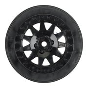 Pro-Line Racing 274003 F-11 2.2/3.0 Wheels for Protrac Kits, SCTE 4 x 4, Black (2)