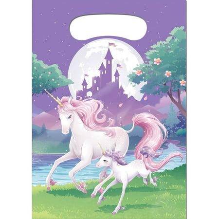 Unicorn Fantasy Favor Bags, 8 pk (Personalized Favor Bags)