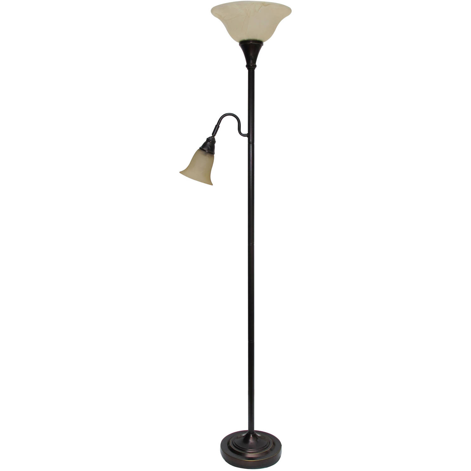 Mainstays Glass End Table Floor Lamp, Matte Black, CFL Bulb Included -  Walmart.com - Mainstays Glass End Table Floor Lamp, Matte Black, CFL Bulb