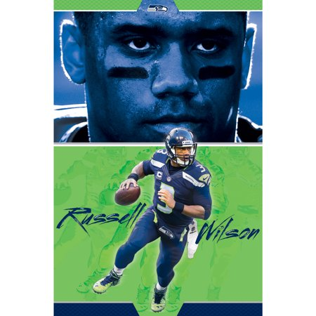 Seattle Seahawks 22'' x 34'' Russell Wilson Poster (Seattle Show Posters)