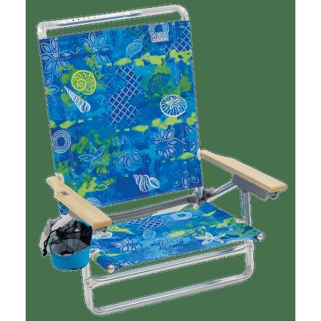 Classic 5-Position Lay-Flat Beach Chair - Baja Boho Shells Layflat Beach Chair