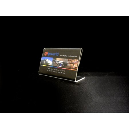 Slant Front Display - Acrylic Slant Back Display Sign Holder 3.5
