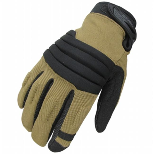 Condor Outdoor COP-226-003-00 Stryker Padded Knuckle Glove, Coyote & Black