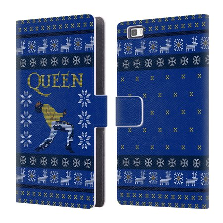 Official Queen Christmas Leather Book Wallet Case Cover For Huawei Phones