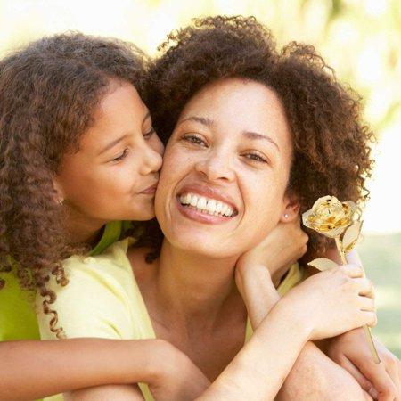 LAFGUR Mother's day Gift,Gold Rose for Women, Love Forever Long Stem Dipped 24k Foil Trim Rose, Best Gift for Valentine's/Mother's/Anniversary/Birthday