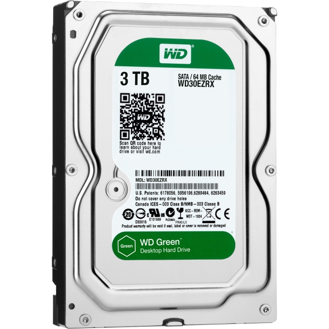 "WD Green 3TB SATA 6Gb/s 3.5"" Internal Desktop Hard Drive"