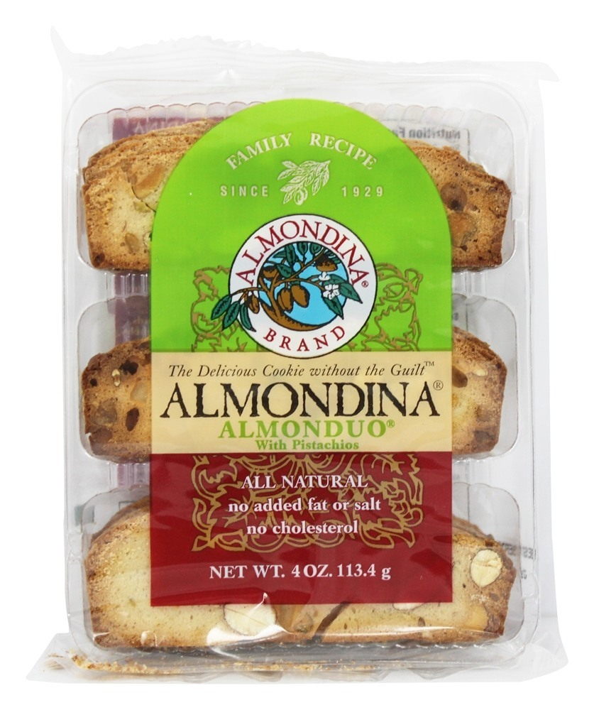 Almondina Almonduo With Pistachios 4 oz (pack of 12) by