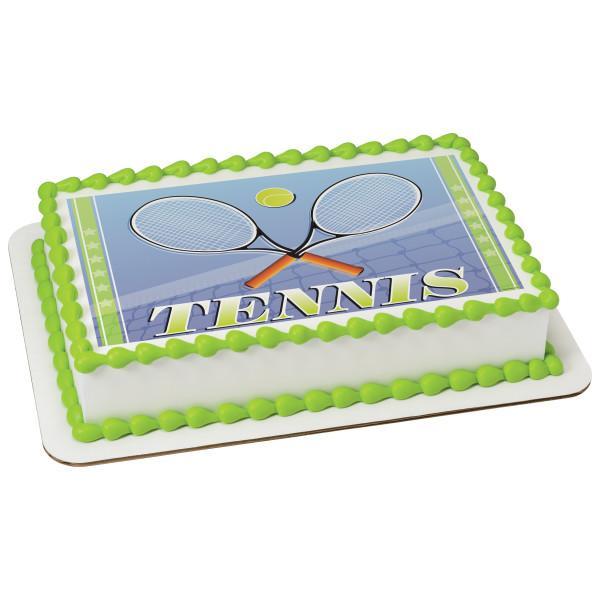 Tennis Edible Cake Topper Image Walmart Com