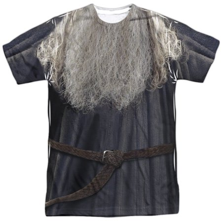 Lord Of The Rings Galdalf The Grey Costume Mens Sublimation Polyester Shirt - Lord Of Rings Costume