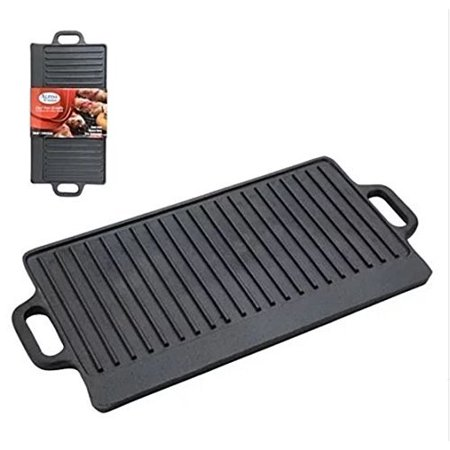 - Cast Iron Griddle Seasoned Grill Kitchen Campfire Cookware Stove-top BBQ Skillet