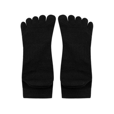 Men's Elastic Cuff Ribbed Detail Stretchy Toe Socks